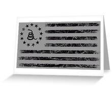 Dont Tread On Me - Original Rebel Flag (Black) Greeting Card