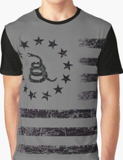Dont Tread On Me - Original Rebel Flag (Black) Graphic T-Shirt