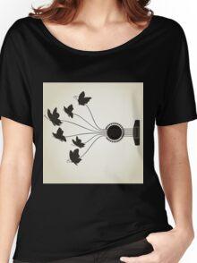 Butterflies a guitar Women's Relaxed Fit T-Shirt