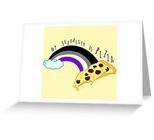 my sexuality is pizza Greeting Card