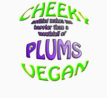 cheeky vegan , plums Women's Fitted V-Neck T-Shirt