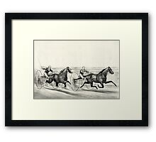 A rush for the heat - Currier & Ives - 1884 Framed Print