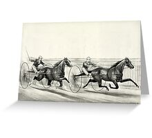 A rush for the heat - Currier & Ives - 1884 Greeting Card