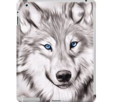The Wolf with blue eyes iPad Case/Skin