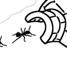 Thanks Ants.  Thants. (Black) Sticker