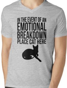 Place cat here Mens V-Neck T-Shirt