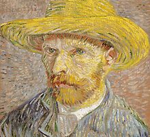 Vincent van Gogh - Self-Portrait with Straw Hat by mosfunky