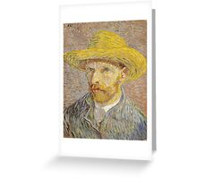 Vincent van Gogh - Self-Portrait with Straw Hat Greeting Card