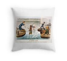A sorry dog - Currier & Ives - 1888 Throw Pillow