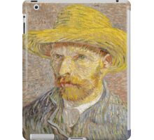 Vincent van Gogh - Self-Portrait with Straw Hat iPad Case/Skin