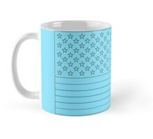 American Flag Black and White Mug