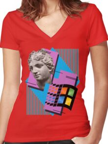 Vaporwave ! Women's Fitted V-Neck T-Shirt