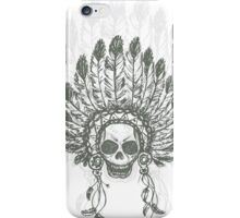 Native American Indian chief headdress iPhone Case/Skin