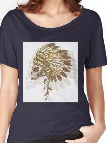Native American Indian chief headdress Women's Relaxed Fit T-Shirt