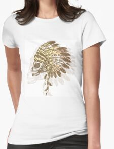 Native American Indian chief headdress Womens Fitted T-Shirt