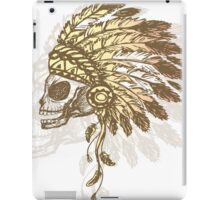 Native American Indian chief headdress iPad Case/Skin