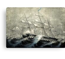 A squall off Cape Horn - Currier & Ives - 1890 Canvas Print