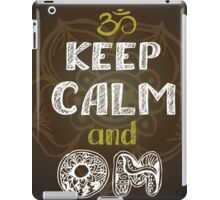 keep calm and om iPad Case/Skin