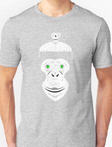 Green Eyed Manbun Monkey T-Shirt