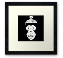Green Eyed Manbun Monkey Framed Print