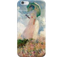 Claude Monet - Woman with a Parasol, Study iPhone Case/Skin