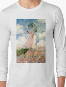 Claude Monet - Woman with a Parasol, Study Long Sleeve T-Shirt