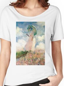 Claude Monet - Woman with a Parasol, Study Women's Relaxed Fit T-Shirt
