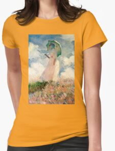 Claude Monet - Woman with a Parasol, Study Womens Fitted T-Shirt
