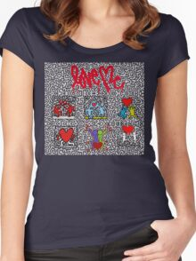 LOVE HARING Women's Fitted Scoop T-Shirt