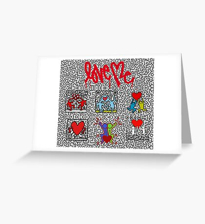 LOVE HARING Greeting Card