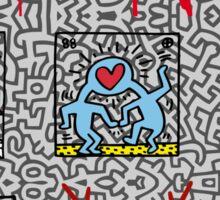 LOVE HARING Sticker