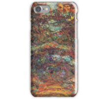 Claude Monet - The Rose Walk, Giverny, 1920-22 iPhone Case/Skin