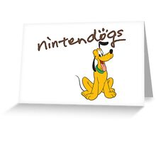 nintendogs pluto Greeting Card