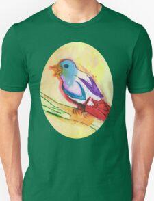 Colorful Tropical Watercolor Bird Illustration Unisex T-Shirt