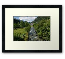 Stream in the Mountains Framed Print
