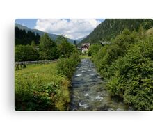 Stream in the Mountains Canvas Print