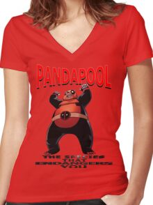 PandaPool Women's Fitted V-Neck T-Shirt