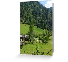 Country and the Mountains Greeting Card