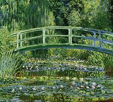 Claude Monet - Water Lilies and Japanese Bridge by mosfunky