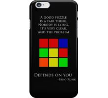 Erno Rubik Quote iPhone Case/Skin