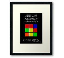 Erno Rubik Quote Framed Print