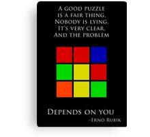 Erno Rubik Quote Canvas Print