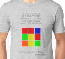 Erno Rubik Quote Unisex T-Shirt