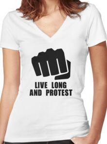 Live Long Women's Fitted V-Neck T-Shirt