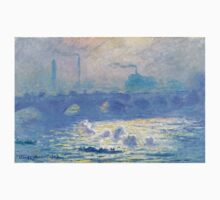 Claude Monet - Waterloo Bridge Kids Tee