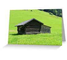 Farmhouse in the Rolling Green Greeting Card