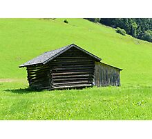 Farmhouse in the Rolling Green Photographic Print