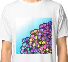 Beautiful Bright Neon Tie Dye Painted Flowers Classic T-Shirt
