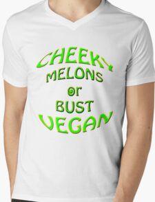 cheeky vegan , melons or bust Mens V-Neck T-Shirt
