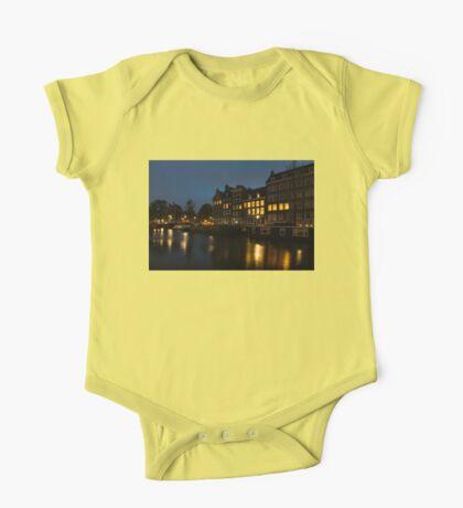 Springtime Amsterdam - Golden Windows In Jordaan One Piece - Short Sleeve